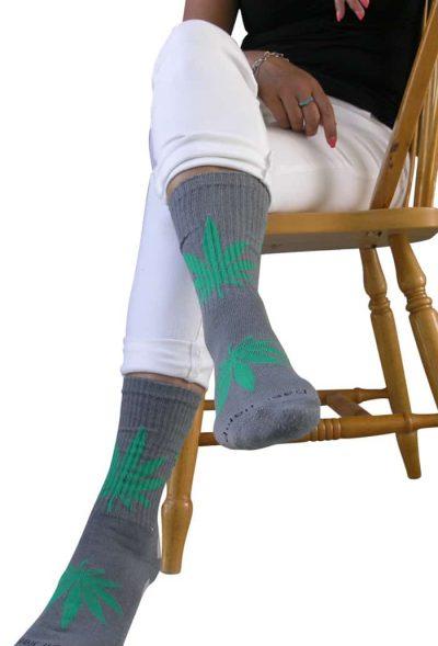 hemp leaf socks