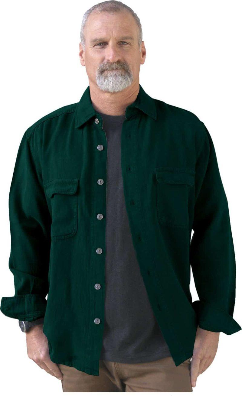 Teal San Lorenzo hemp shirt