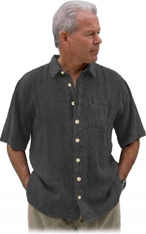 Charcoal hemp shirt