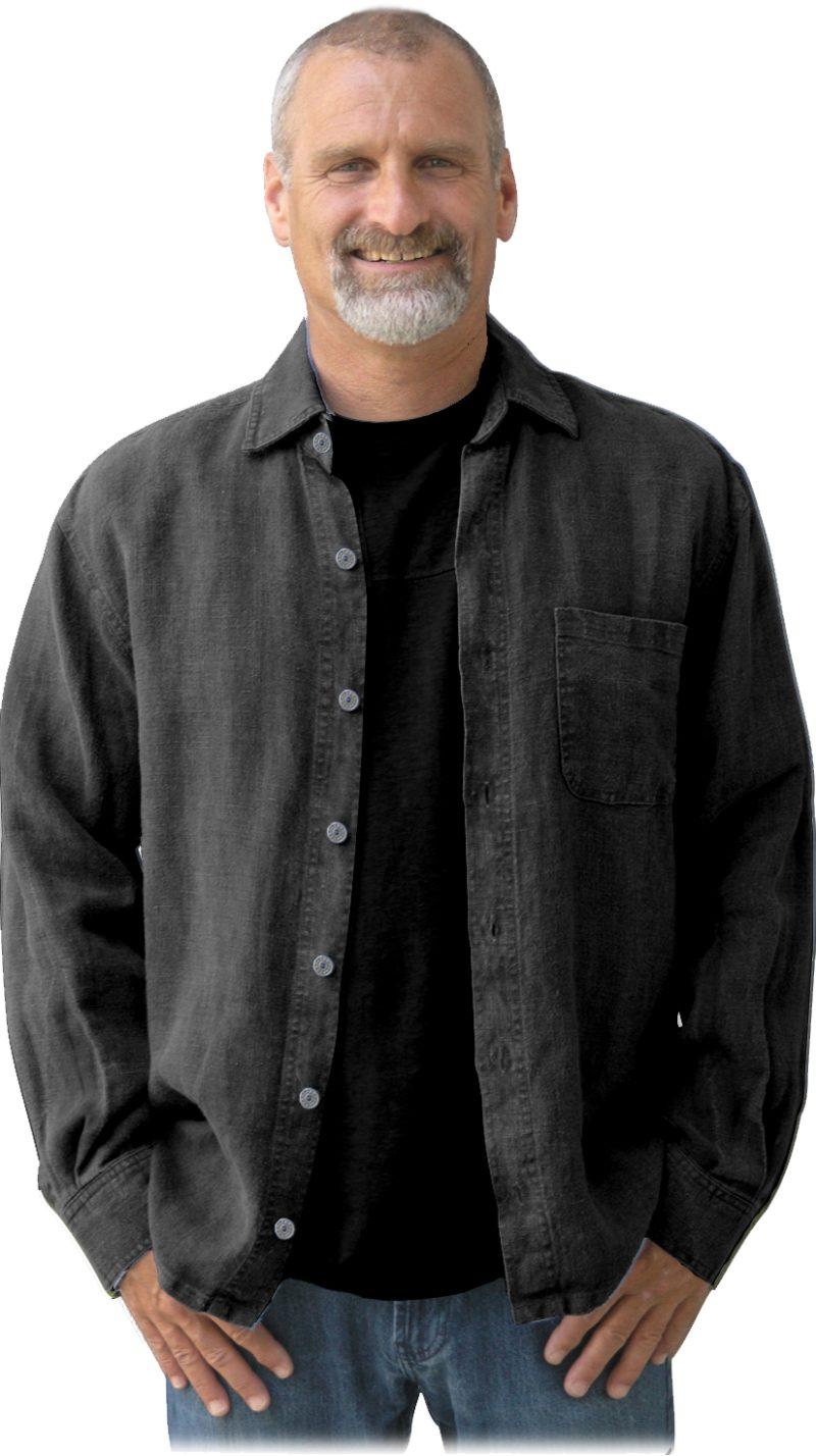 Black hemp shirt