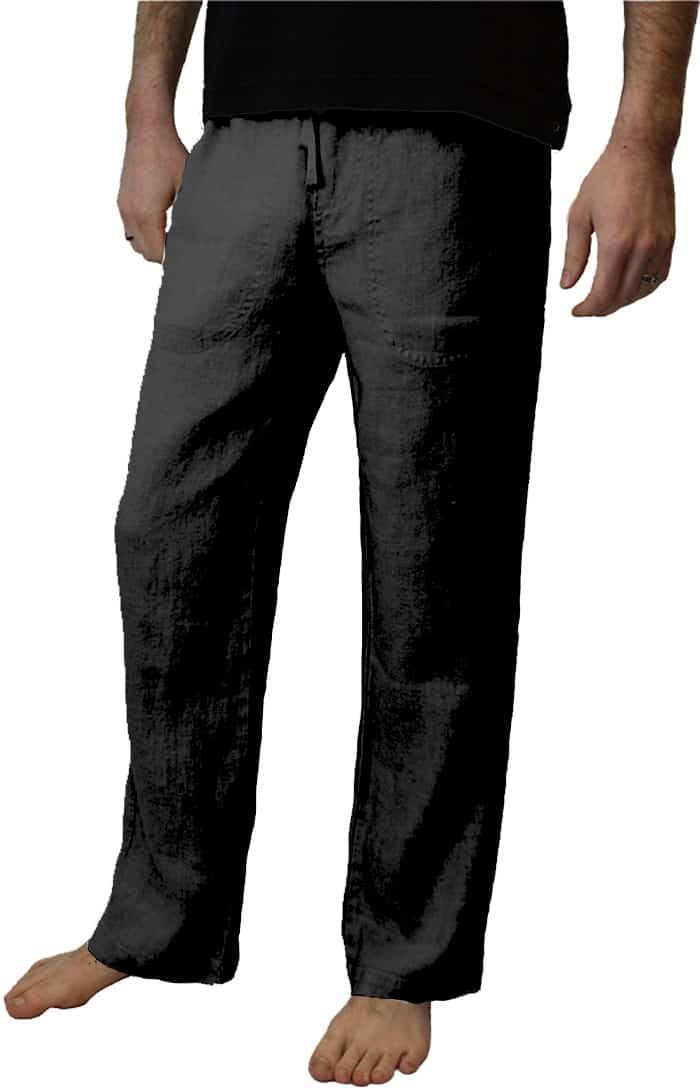 Black Hemp Pants