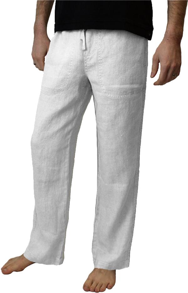 Mazatlan White Hemp Pant