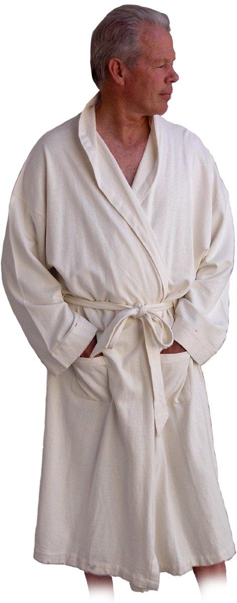 Unisex Hemp Spa Robe in low loop French Terry Hemp
